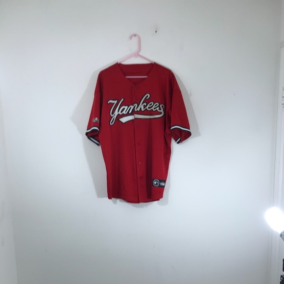 the latest 19bd2 84c17 Majestic Red New York Yankees Baseball Jersey XL